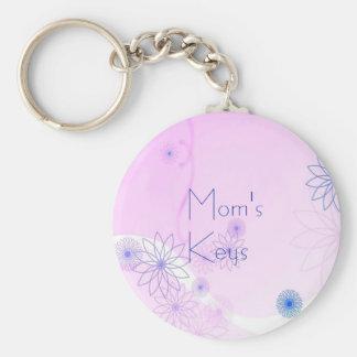 Floral Mom's Keys Keychain