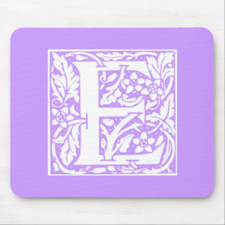 """Floral Monogram """"E"""" Mouse Pad"""