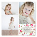 Floral Monogram Girly Photo Collage