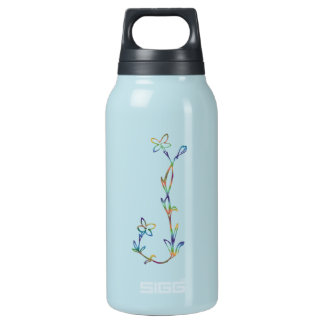 FLORAL MONOGRAM J INSULATED WATER BOTTLE