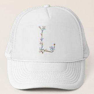 FLORAL MONOGRAM L TRUCKER HAT