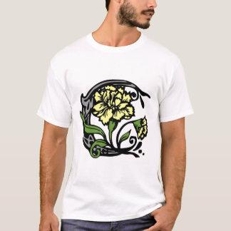 Floral Monogram Letter C T-Shirt