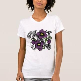 Floral Monogram Letter N T-Shirt