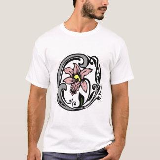 Floral Monogram Letter O T-Shirt