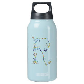 FLORAL MONOGRAM R INSULATED WATER BOTTLE