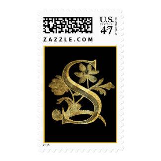 Floral Monogram S Postage