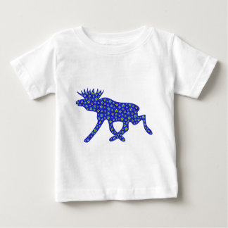 Floral Moose Baby T-Shirt