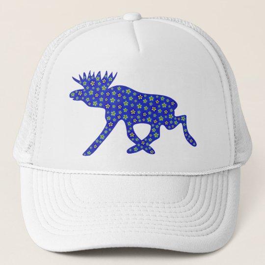 Floral Moose Trucker Hat