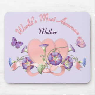 Floral Morning Glory Mothers Day Mouse Pad