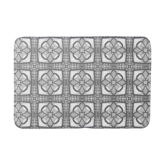 Floral Moroccan Square Tile D 233 Cor Pattern Bathroom Mat