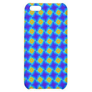 Floral Mosaic Tile Orange Blue Pern Gifts iPhone 5C Covers