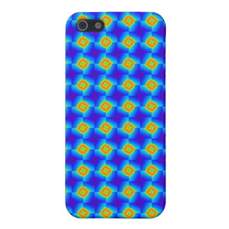 Floral Mosaic Tile Orange Blue Pern Gifts iPhone 5 Cases