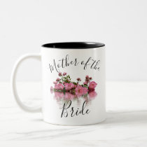 Floral Mother of the Bride Two-Tone Coffee Mug
