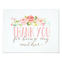 Floral Mother Thank You Card