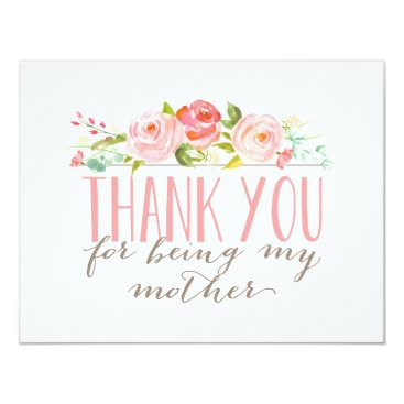 NBpaperco Floral Mother Thank You Card