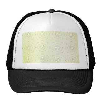 Floral Motif against a green textured background Trucker Hat