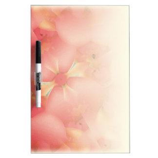 Floral Motif Dry-Erase Whiteboards