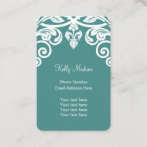 Floral Motif Feminine Design Business Card