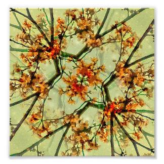 Floral Motif Print Pattern Collage Photo Print
