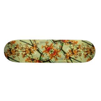 Floral Motif Print Pattern Collage Skateboard