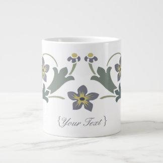 Floral Motif - Snack time 20 Oz Large Ceramic Coffee Mug