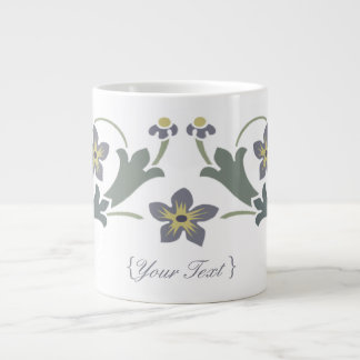 Floral Motif - Snack time Giant Coffee Mug