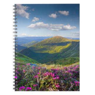 Floral Mountain Landscape Notebook