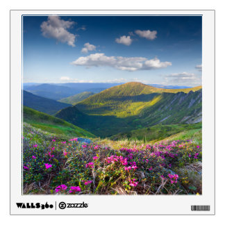 Floral Mountain Landscape Wall Decal