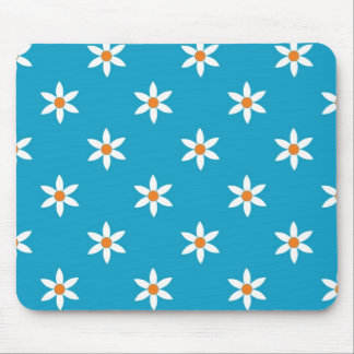 Floral Mouse Pad In Blue