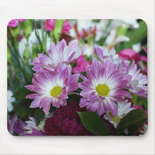 Marriage anniversary bouquet : Floral mouspad happy wedding anniversary bouquet mouse pad