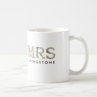 Floral MRS Custom Bridal Gift Mug
