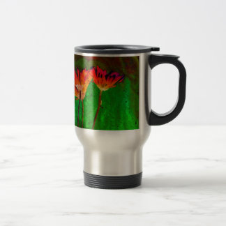 Floral 15 Oz Stainless Steel Travel Mug
