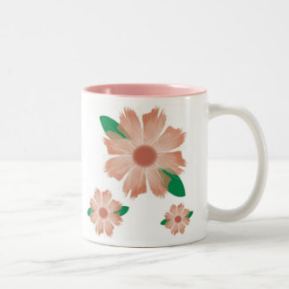 Floral mug -- for lefties and righties
