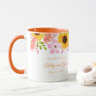 Floral Mug-Save the date Mug