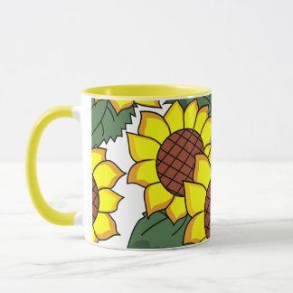 floral mug,sunflowers mug