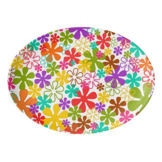 Floral Multi Color Porcelain Serving Platter