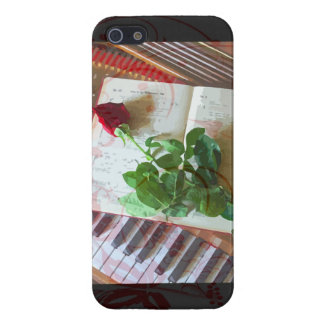 Floral Music Book Rose On Piano Cover For iPhone SE/5/5s