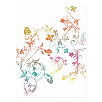 Floral Music Notes 2 Postcard