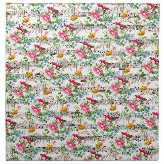 Floral musical servilleta de papel