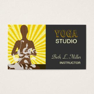 Floral N Sunrise Meditation Yoga Pilates Business Card
