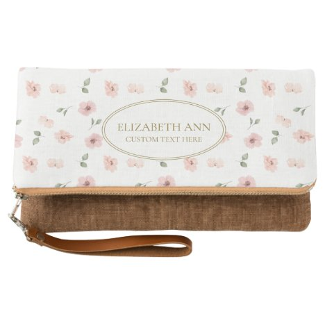 Floral Name Clutch