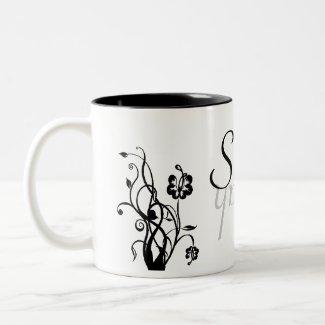 Floral Name Mug Template mug