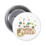 Floral Nature Lover Pinback Button