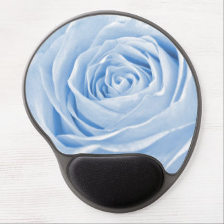 Floral Nature Photo Dainty Light Blue Rose Gel Mouse Pad