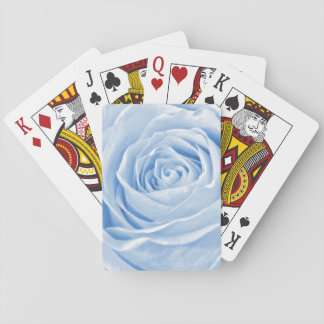 Floral Nature Photo Dainty Light Blue Rose Playing Cards