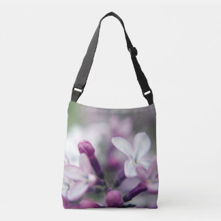Floral Nature Photography Pink Lilacs Cross Body B Crossbody Bag