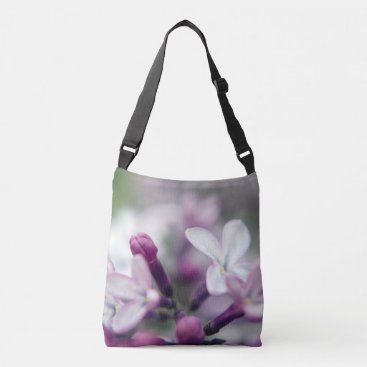 Beach Themed Floral Nature Photography Pink Lilacs Cross Body B Crossbody Bag
