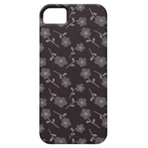 Floral negro funda para iPhone 5 barely there