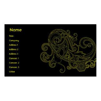 Floral negro - negocio tarjetas de visita