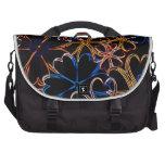 Floral Neon Laptop Shoulder Bag